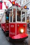 Tram rouge Photos libres de droits