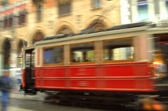 Tram rouge abstrait Images stock