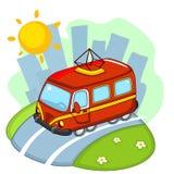 Tram rouge pour des enfants illustration libre de droits