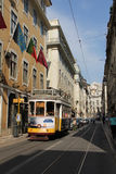 Tram 28 route, Lisbon Stock Images