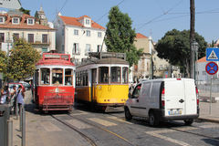 Tram 28 route, Lisbon Stock Photography