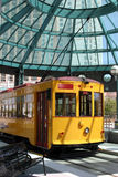Tram in San Diego. Yellow Tram in San Diego sunny day Stock Photos