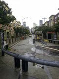 the tram in san francisco rainy day stock photography