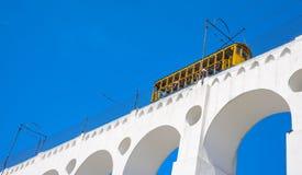 Tram of Santa Tereza Bonde de Santa Teresa in Rio de Janeiro - royalty free stock photo