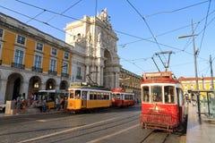 Tram scene Lisbon Royalty Free Stock Photos