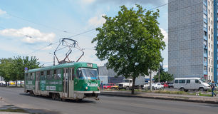 Tram. In service in kharkov town ukraine Stock Images