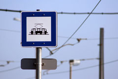 Tram sign Royalty Free Stock Photo