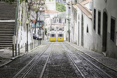 Tram on slope Stock Image