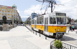 Tram in Sofia, Bulgaria Royalty Free Stock Image
