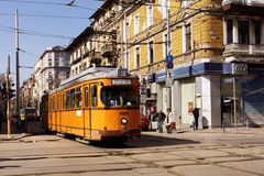 Tram in Sofia, Bulgaria Stock Photos