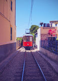 Tram in Soller on Majorca Stock Images