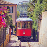 Tram in Soller on Majorca Stock Image