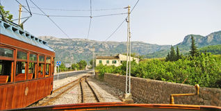 Tram of Soller - Port de Soller, Majorca Royalty Free Stock Images