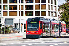 Tram in Solothurn, Switzerland Royalty Free Stock Photography