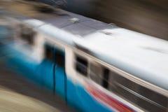Tram speeding. Swedish tram speeding away fast Stock Photos