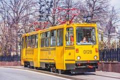 Tram spoor-malende machine Royalty-vrije Stock Fotografie