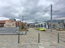 Tram à St Etienne, France Photographie stock libre de droits