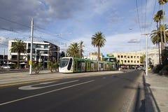 Tram in St. Kilda, Melbourne Stockbilder