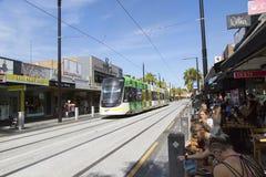 Tram in St. Kilda, Melbourne Lizenzfreie Stockfotografie