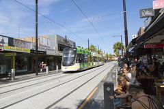 Tram in St Kilda, Melbourne Royalty Free Stock Photography