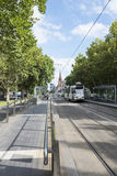Tram in St. Kilda Road, Melbourne, Asutralia. Royalty Free Stock Images
