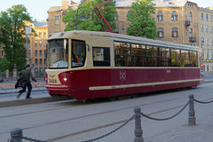 Tram in St. Petersburg, Russia Royalty Free Stock Images