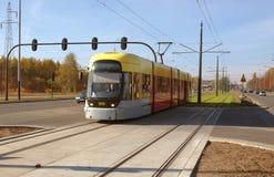Tram-Stadt Lizenzfreies Stockfoto