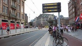 Tram station amsterdam City of Amsterdam stock footage