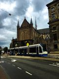 Tram station at dem square Amsterdam