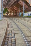 Tram station with a canopy Royalty Free Stock Images