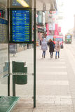 Tram station in Helsinki, Finland. Stock Photos