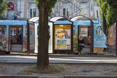 Tram station in Kiev, in Podil, Ukraine Stock Photography