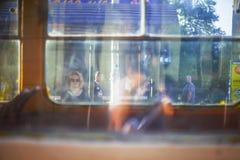 Tram station in Kiev, in Podil, Ukraine Royalty Free Stock Photography