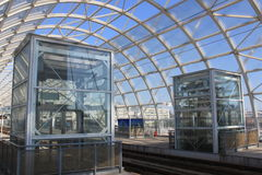 Modern tram station Royalty Free Stock Image