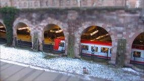Tram station Nuremberg (Nürnberg) stock video
