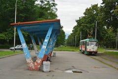 Tram station Royalty Free Stock Image