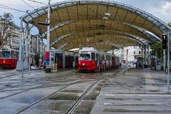 Tram station Stock Image