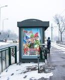 Tram stop Royalty Free Stock Photo