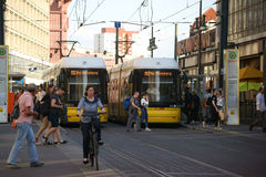 Tram stop Alexander place Stock Photo
