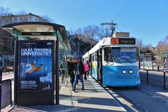 Tram stop in Gothenburg Stock Photography