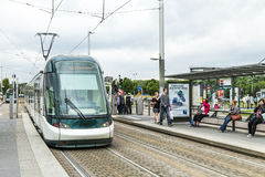 Tram stop in Illkirch, France Royalty Free Stock Image