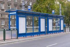 Tram stop in Nowa Huta Stock Photo