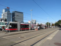 Tram stop in Vienna Stock Photography