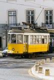Tram storico 28, Lisbona Fotografia Stock