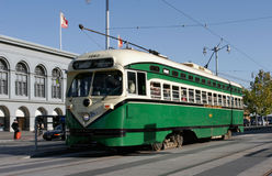 Tram storico a San Francisco Immagine Stock Libera da Diritti