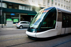 Tram in Strassbourg Royalty Free Stock Images