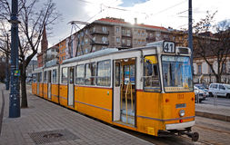 Tram on the street of Budapest, Hungary Stock Image