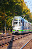 Tram on the street of Hanover Royalty Free Stock Photos
