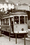 Tram in the street of Lisbon. Portugal stock photo