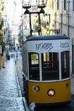 Tram in the street of Lisbon Stock Image
